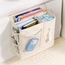 Hot Multifunctional Bedside Hanging Storage Bag Sundries Tissue Holder Organizer Thick Oxford cloth magazines newspaper holders