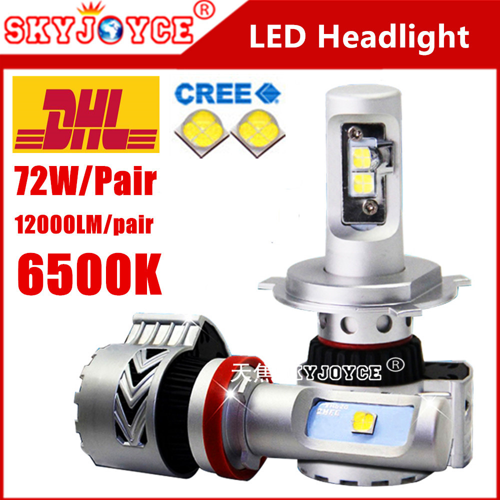 20X DHL freeshipping car light headlamp H7 H4 H8 H11 H10 9005 9006 H16 xenon white led headlight kit fog lamp DRL car styling <br>