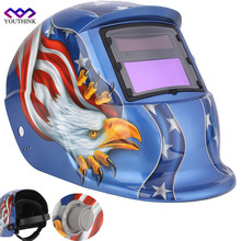 YOUTHINK Welding Mask Eagle Solar Auto Darkening TIG MIG MMA Electric Welding Helmet/Welding Lens For Welding Machine
