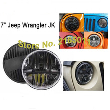 7 inch Round Projector Daymaker LED Headlight H4 H/Low Beam 36W Headlamp Jeep Wrangler Jk Tj Fj Cruiser Trucks Road Lights - DP off road&Motor Store store