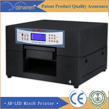 A4 uv flatbed inkjet printer for leather,wood,glass  golf ball printing machine