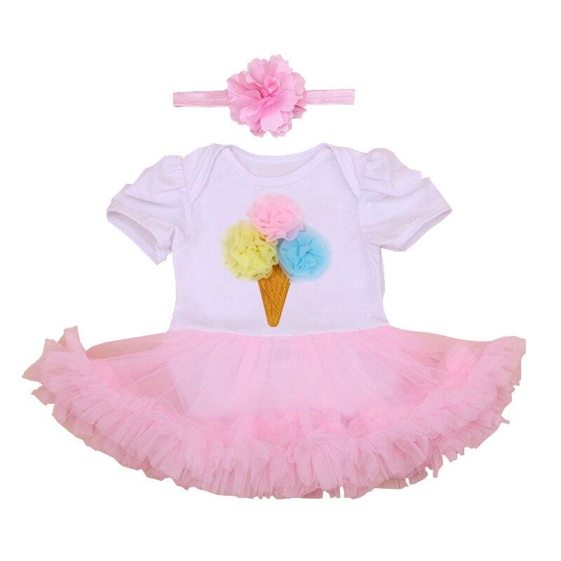 Baby Skirt Sets 2017 Girls Clothes White Short Sleeve Romper + Handmade Tutu Skirts Newborn 1 First Birthday Party Clothing Set<br><br>Aliexpress