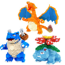 2017 CKL Magic Blocks Large size Pokeball go DIY Building Bricks Venusaur Auction Figure Micro Blocks Kids toys Girl Gift 6606