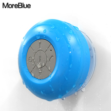 MoreBlue Mini Bluetooth Speaker Sucker Handsfree Waterproof IPX4 Sound Box Bass Music Player Portable Holder For Smartphone PC