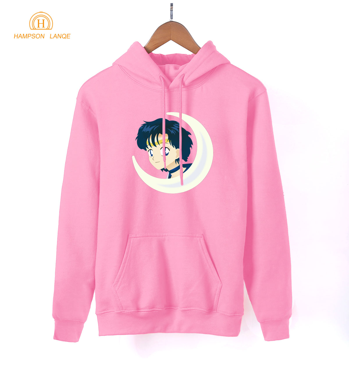 Japan Anime Kawaii Sailor Moon Pink Hoodies For Girls 2019 Hot Spring Autumn Cute Sweatshirts For Lady Women