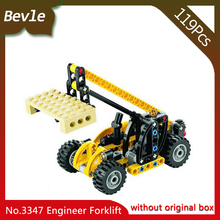 Bevle Store Lepin 3347 119Pcs Technic Series Crane Truck Model Building set Blocks Bricks Children For Toys Decool Gift(China)