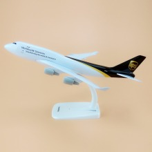 Alloy Metal Air Worldwide Services UPS B747 Airlines Airplane Model UPS Boeing 747 400 Airways Plane Model Aircraft Gifts 20cm(China)