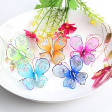 5 Pcs Summer Style Prom Dancing Headwear Butterfly Chiffon Baby Barrette Children&Kids Hair Clip Accessories Baby Party Hairpins