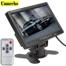 Wireless Car Monitor Vehicle Back Up Camera, 7' Monitor TFT Color LCD Reverse Rear View Security Display & Night Vision LED
