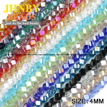 JHNBY Twisted Faceted Austrian crystal beads 100pcs 4mm High quality glass Loose beads ball handmade Jewelry bracelet making DIY