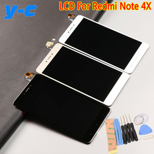 For Xiaomi Redmi Note 4X LCD Display+Touch Screen 100% New Digitizer Glass Panel For Xiaomi Redmi Note 4X 1920X1080 FHD 5.5inch