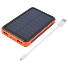 New 15000mAh Waterproof Portable Solar Power Bank Dual USB Solar Charger for cell phone Wholesale