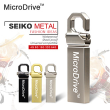 Hot Selling Usb Flash Drive Silver/Gold/Black Metal 4gb 8gb 16gb 32gb U Disk Storage USB 2.0 pen drive memory stick(China)