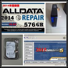 Alldata Repair Software V10.53 All data with mitchell on demand 2015 with 2TB Harddisk installed well in Mini desktop Computer