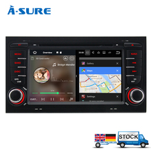 "A-Sure 7"" Car DVD Player 2 Din GPS Android 7.1 Radio Navigation for Audi A4 S4 RS4 8E 8F B7 B9 Seat Exeo DAB+/WIFi 3G OBD SWC BT"