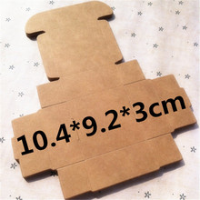 50 pcs 10.4*9.2*3cm Kraft paper gift box for wedding,birthday and Christmas party gift ideas,good quality for cookie/candy(China)
