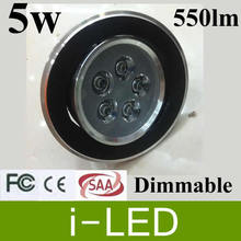 50x 5W 550lm LED Recessed Downlights Kits 5W Led Down light Lamp bulb AC85-265v With Power Driver warm / pure white 3000k-6500k(China)