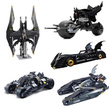 the Tumbler Batwing Bat Tank Bat Boat The Batmobile 3D Model Buidling Block Toys Gifr for Boy