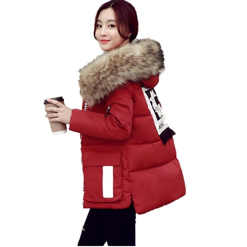 2016 Winter New Women Cotton-padded Jacket Coat Thicken warm Fur Collar Hooded Loose cotton coat Female  Outwear Plus Size M-5XLÎäåæäà è àêñåññóàðû<br><br>