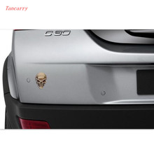 Car styling 3D car stickers decals emblem decorations FOR vw polo chevrolet captiva megane renault mitsubishi asx Accessories
