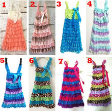 ON SALE Girl Casual Dresses Lace Petti Ruffle A-Line Dresses Girl Party Dress Kids Clothing