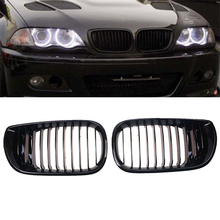 Auto Replacement Parts Racing Grills Car Front Kidney Grille Black Grilles For BMW 3-Series E46 Sedan 2001-2005 Facelift 4 Door