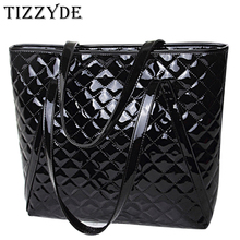 2017 patent leather diamond lattice women handbags European American fashion female portable shoulder bag feminina bolsa WSC02(China)
