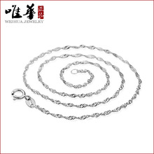 Wave chain necklace Korean female Korean jewelry vintage silver jewelry offers for higher quality