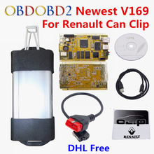 Latest V169 For Renault Can Clip Full Chip CYPRESS AN2131QC OBDII Auto Diagnostic Interface CAN Clip For Renault Code Scanner
