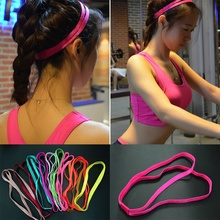 10 Colors Double Elastic Headband Softball  Anti-slip Silicone Hair Bands For Hair Scrunchy