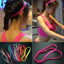 10 Colors Double Elastic Headband Softball Anti-slip Silicone Hair Bands For Hair Scrunchy(China)