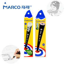 Marco 12pcs Carton Drawing Sketching Pencils Professional Fine Art Hexagonal Non-toxic With Rubber Children Gifts Art Supplies