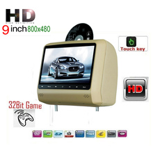 "Car Headrest DVD Player 9"" Touch Key USB Game IR Headset For Renault Opel Nissan"