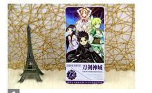 72 pcs/ lot Sword Art Online iron box birthday postcard christmas greeting cards set/Gift Card/Post card