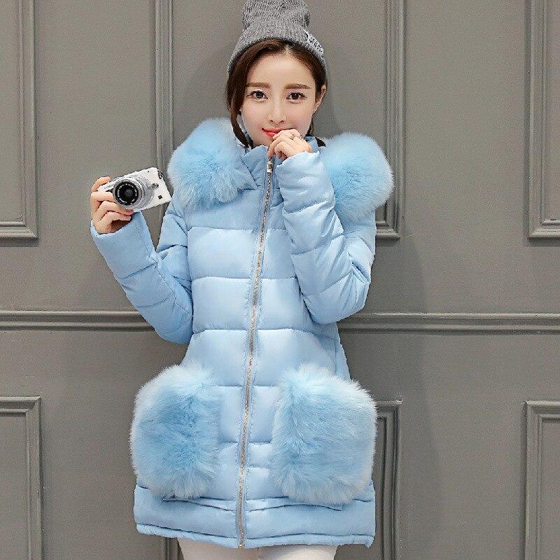 2017 Korean Slim was thin Autumn &amp; winter long section Nagymaros collar dress  students padded thick coat solid color big yardsÎäåæäà è àêñåññóàðû<br><br>