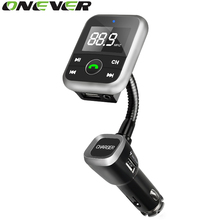 Onever Car FM Bluetooth Transmitter MP3 Audio Player Wireless FM Modulator Car Bluetooth Kits Handsfree USB Charger for iPhone(China)