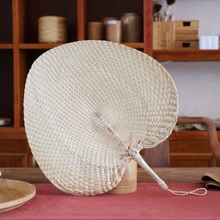 Japanese Hand Fan Straw Wedding Souvenirs Home Decoration Crafts Vintage Gift Hand-woven Dance Fans Party Home Decor Interior
