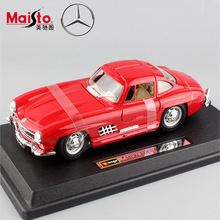 1/24 Scale brand Maisto 1954 300 SL vintage car metal die cast free wheels auto collection styling cars model toys for children