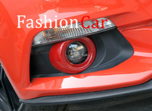 Red & Blue & Silver Front Fog Lamp Fog Light Cover Trim 2pcs For Ford mustang 2015 2016 2017(China)
