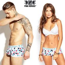 Pink Heroes Brand Original fashion young lovers underwepants sexy cotton underware big lingerie low waist shorts underpants