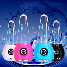 Wireless LED Dancing Water Fountain Light Music Bluetooth Speakers with Mic Support TF Card FM Radio for Iphone Computer Laptop