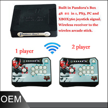 Arcade Stick Controller Pandora Box 4S Wireless Arcade Stick Controller Support to PC PS3 XBOX360 Game arcade Stick for 2 Player(China)