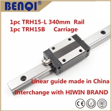 LOW PRICE linear rail TRH15-340mm+TRH15B carriage instead of hiwin HGH15CA-340mm