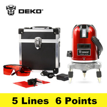 DEKOPRO LL56 5 lines 6 points laser nivel level 360 rotary cross laser line leveling can be used with outdoor receiver