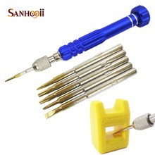 6in1 Pentalobe Repair Alloy Steel Opening Tools Screwdrivers Kit Magnetizer Demagnetizer For iPhone Samsung Galaxy Tablet