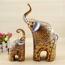 European Style Elephant Statue Crafts , Animal Ornaments, Home Decor,Lucky, Living Room, Cabinets, Decoration, Wedding Gifts