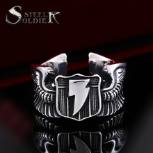 Steel soldier Man's Gothic biker Ring Stainless Steel Nice Look Personality Man's Jewelry