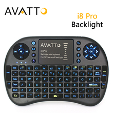 Spanish/Hebrew/Russian/English Backlit i8 Pro Mini Keyboard 2.4G Wireless TouchPad Air Mouse for Smart TV,Laptop,Android Box