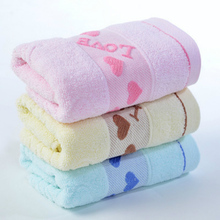 Love Heart Pattern Cotton Soft Face Towel Hand Towel For Adults High Absorbent Hotel Home Use 33*73cm 1PC
