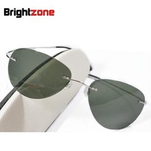 NewArrival Free Shipping High Grade Brand 100% Beta Pure Titanium Polarized Sunglasses Myopia Prescription Polarized Sun-lens